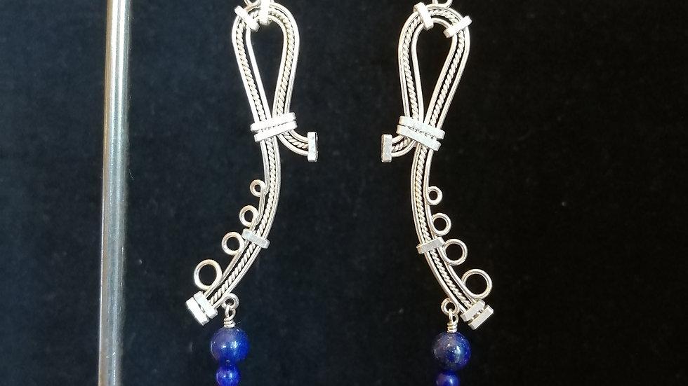 lapis lazuli et argent 925
