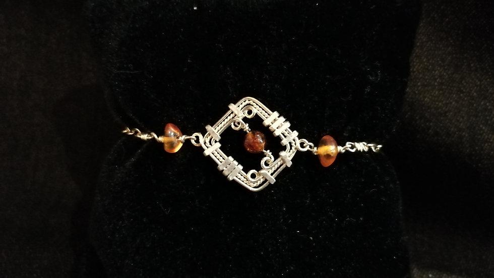 Bracelet en ambre et argent 925
