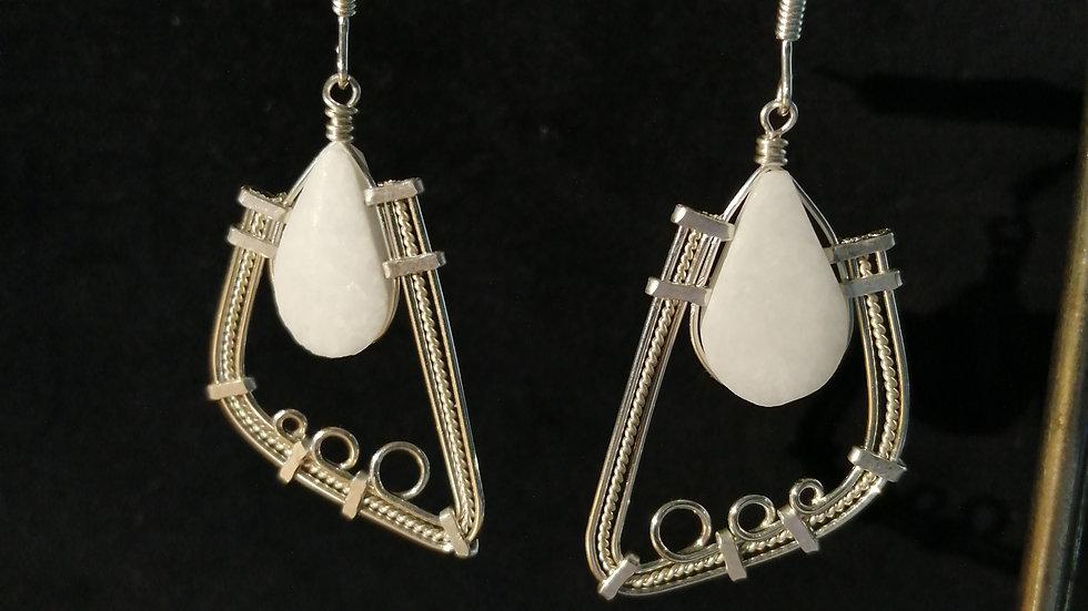 Boucles d'oreilles en marbre