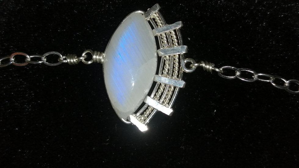 Bracelet en pierre de lune et argent 925