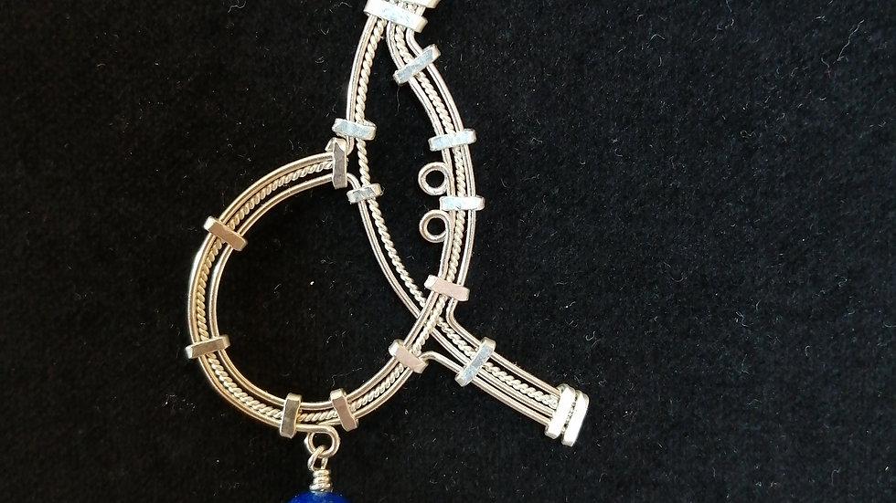 lapis lazuli et argent