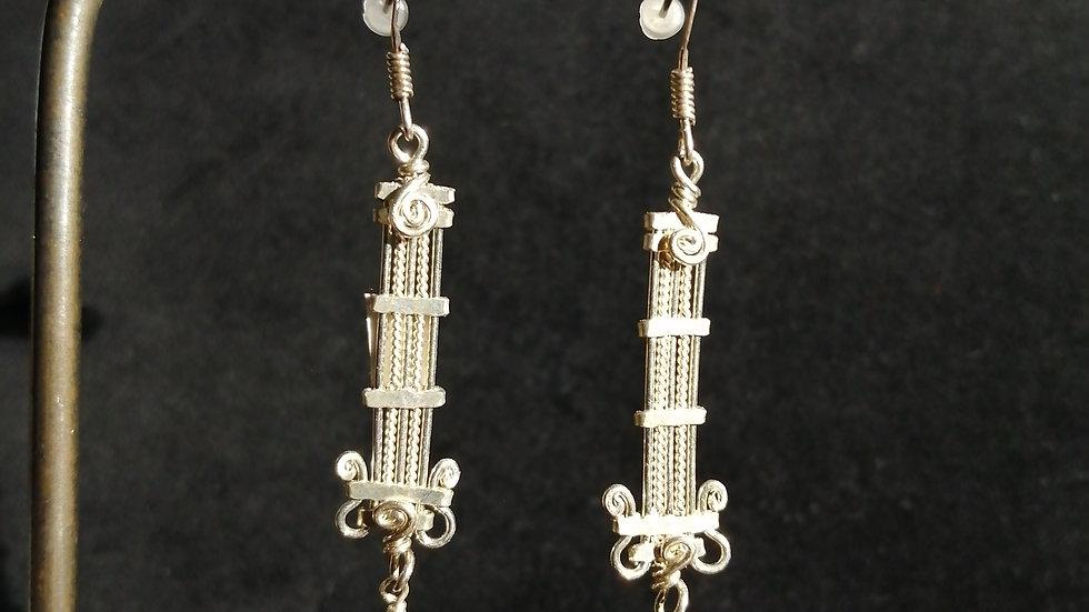 Boucles d'oreilles en lapis lazuli et argent