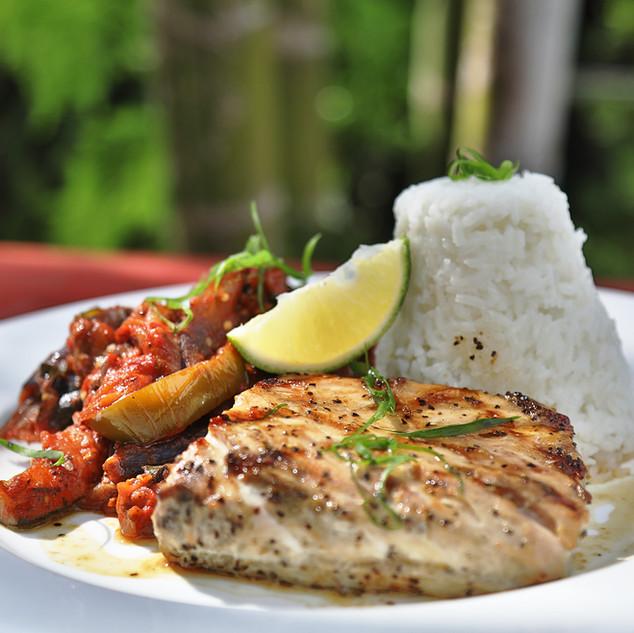 Bulaccino Grilled fish & veggies
