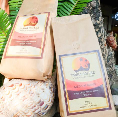 Coffee grounds or beans medium roast