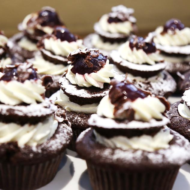 Bulaccino Black Forest cupcakes