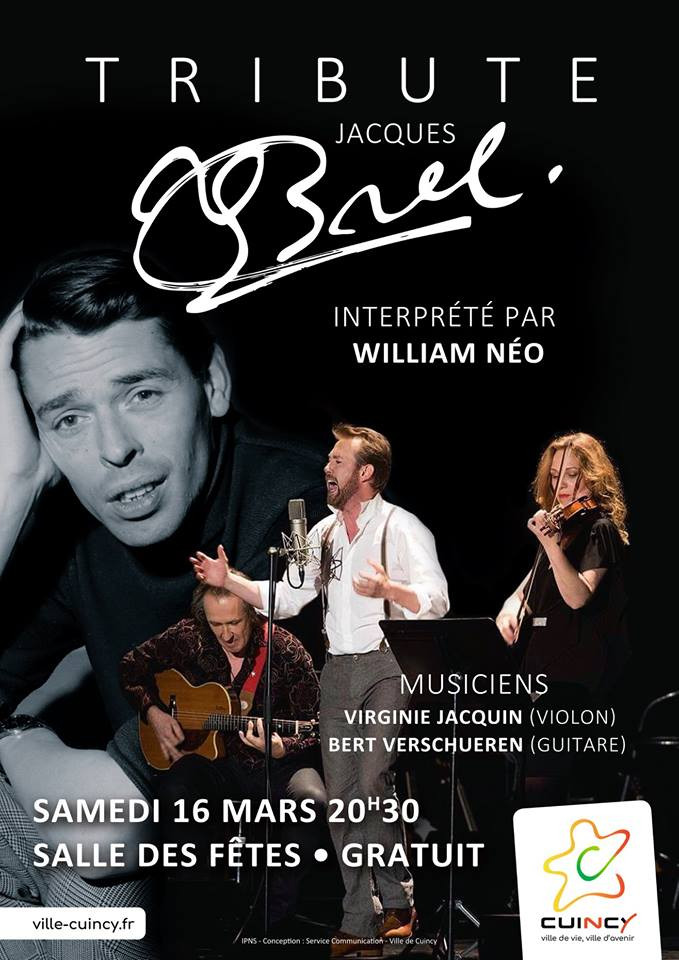 William NEO, Jacques BREL, concert