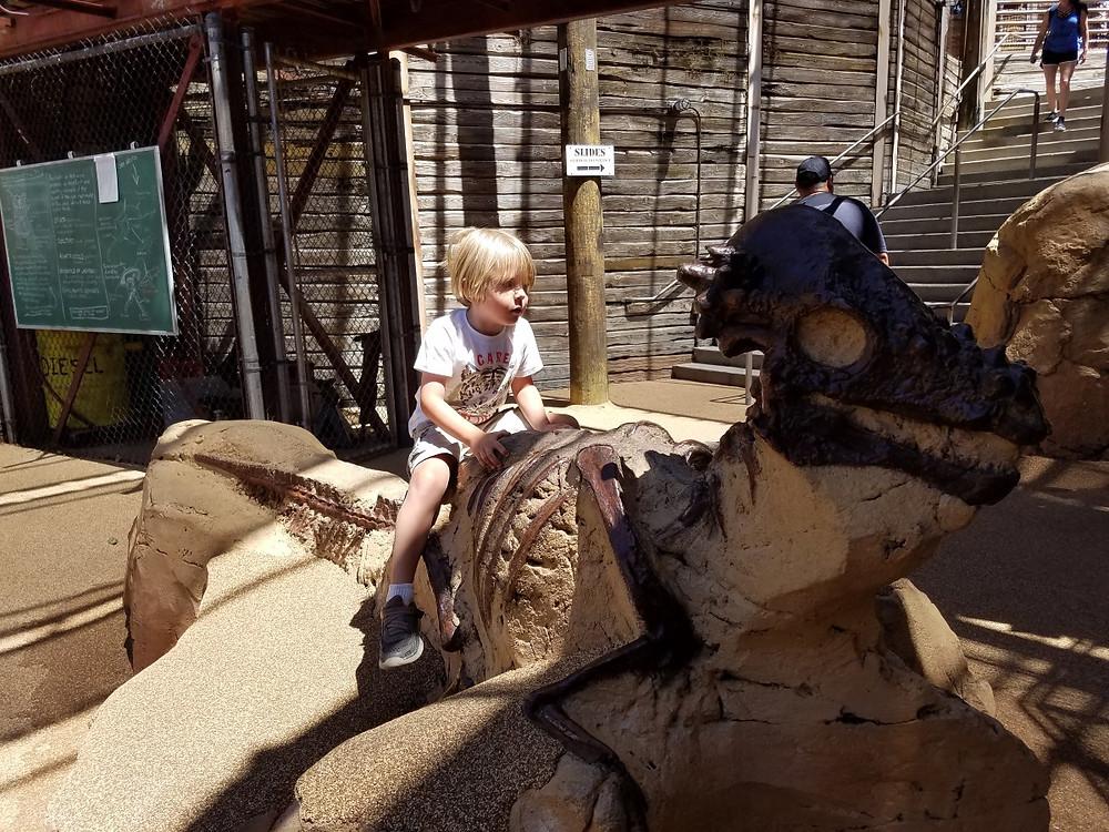 Riding a Dinosaur (skeleton)