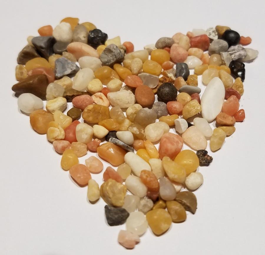 Beach pebbles from Lake Pontchartrain