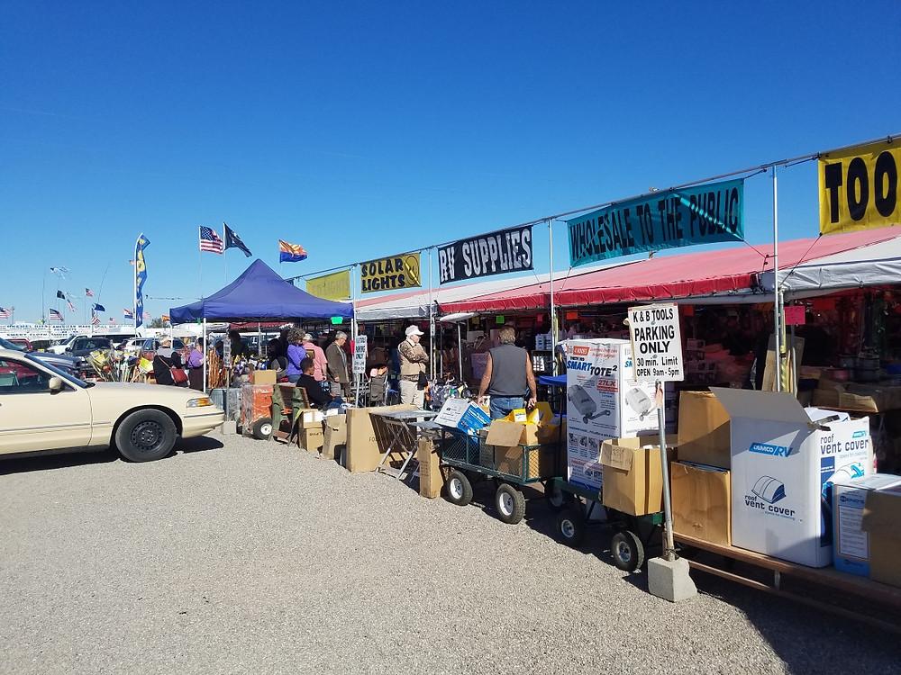 Some Typical Vendors in Quartzsite
