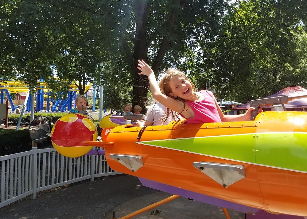 Crayton and Zella on the rides!