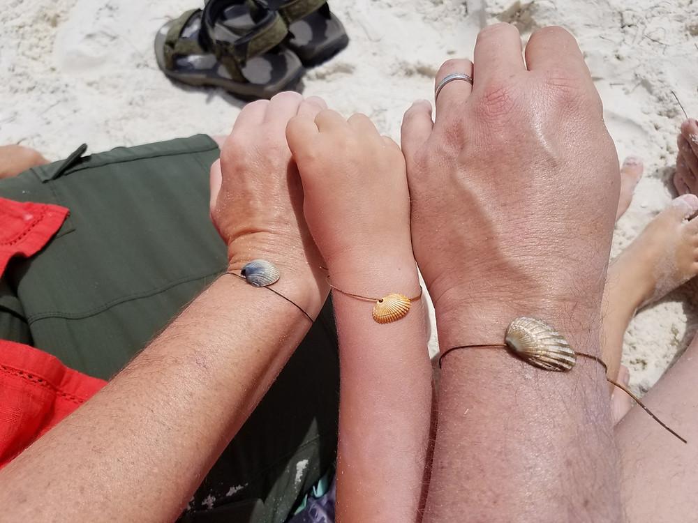 The bracelets Crayton made