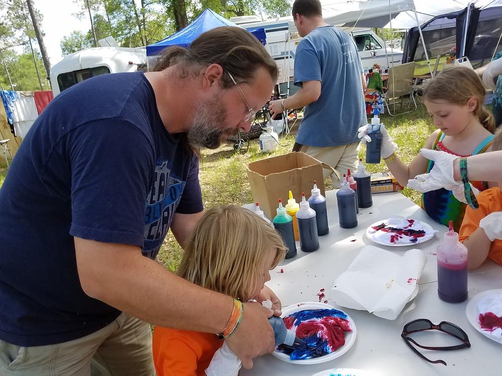 Making Tie Dye. Thanks Pete!