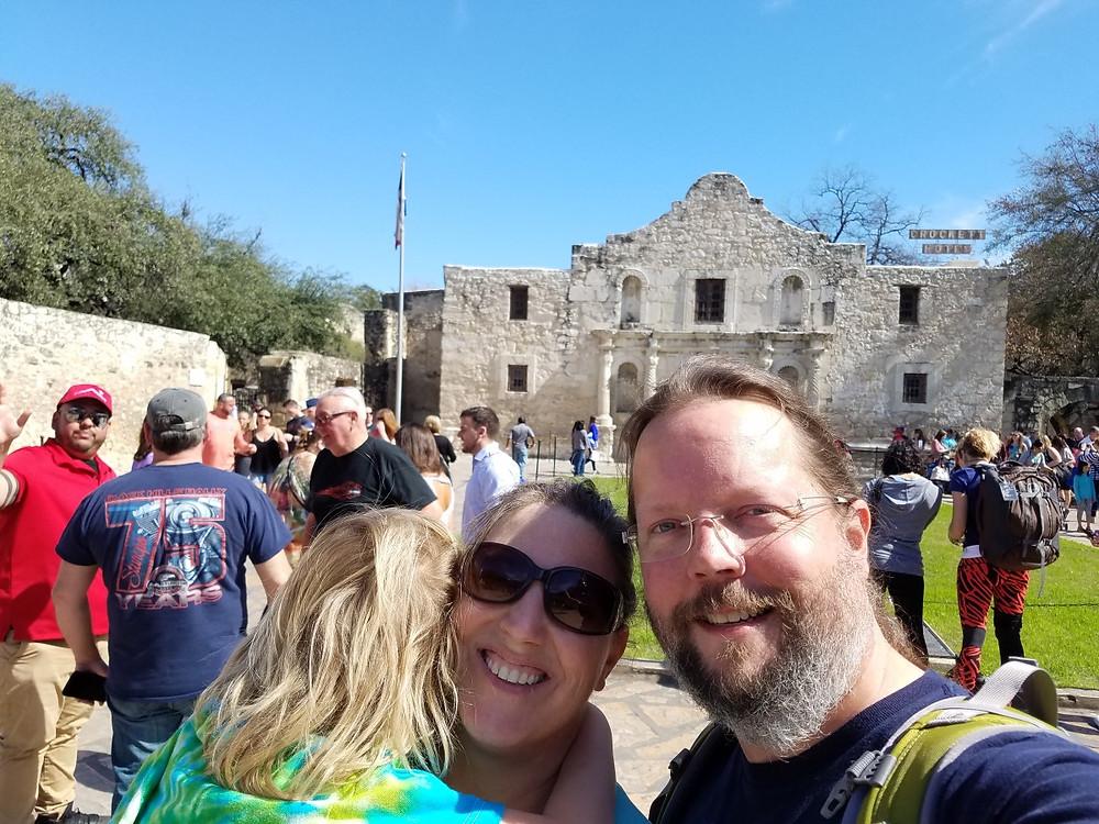 Obligatory Alamo family selfie