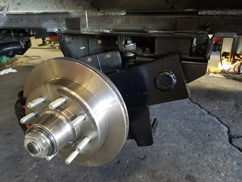 Close-up of Suspension and brakes