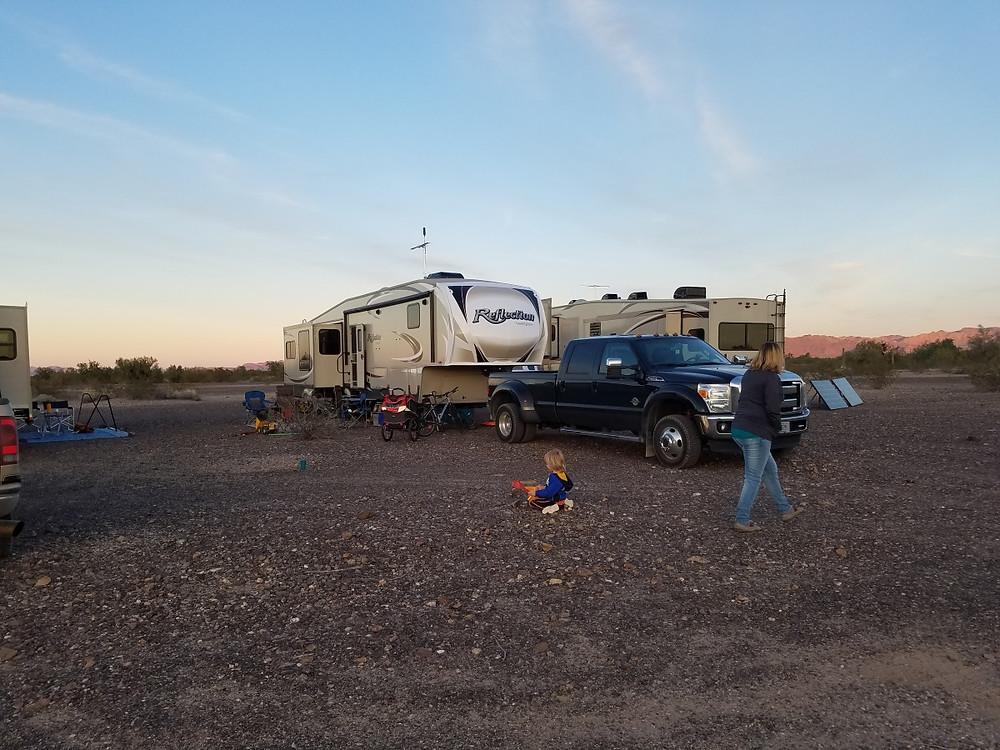 Our boondocking site outside Quartzsite, AZ