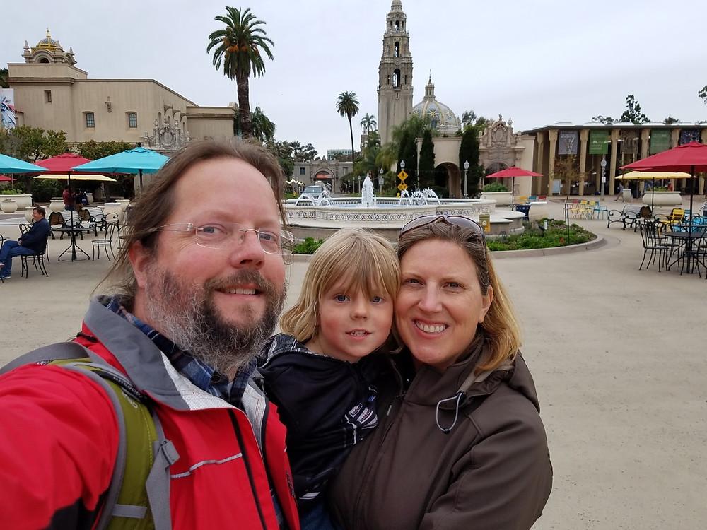 Family Selfie at Balboa Park