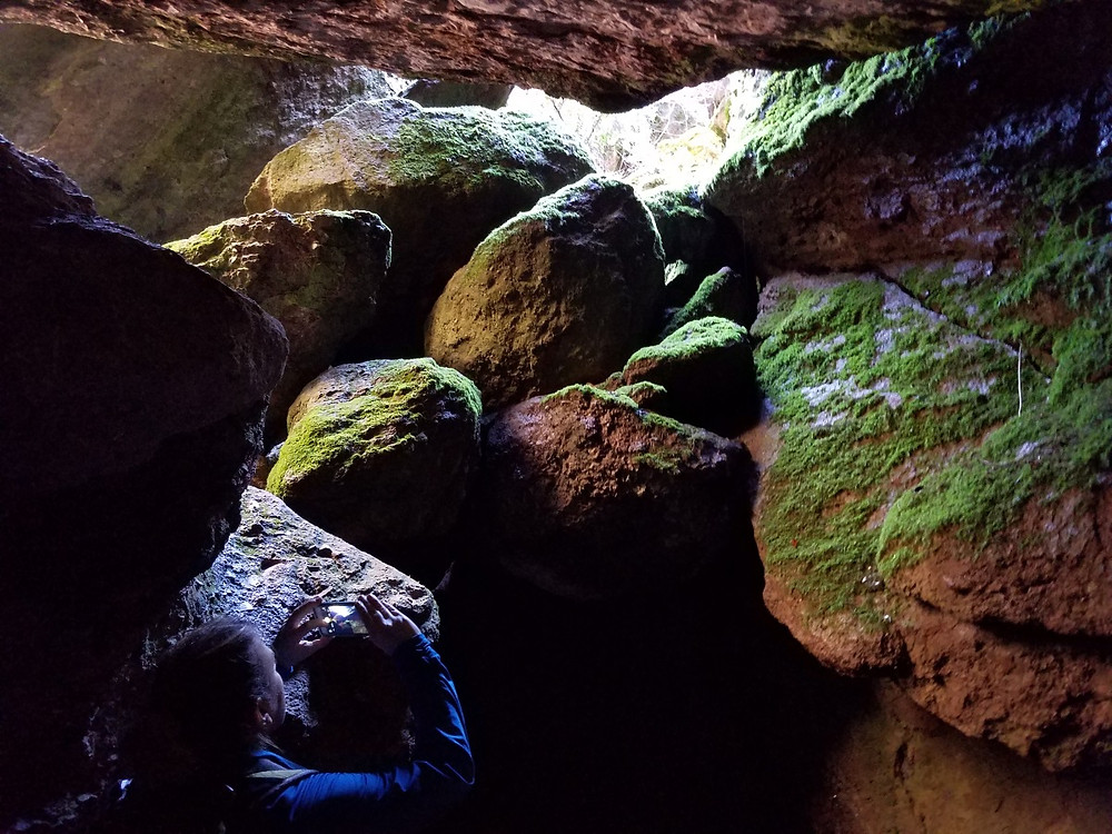 Crazy cool colors in the gully caves
