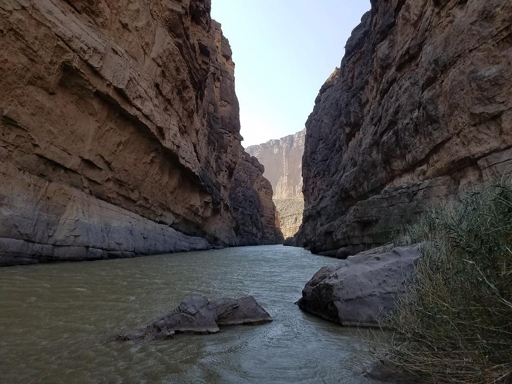 The view down Santa Elena Canyon