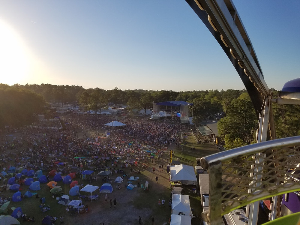 The Peach stage from the ferris wheel