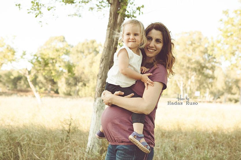 אמא בהריון ובת