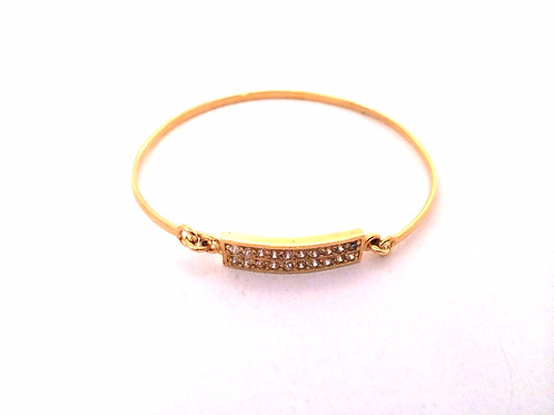 The Amber Bangle in Gold