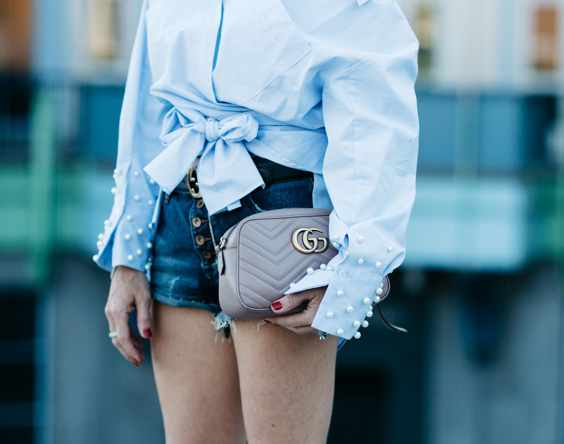 Gucci Clutch and Pearl Details