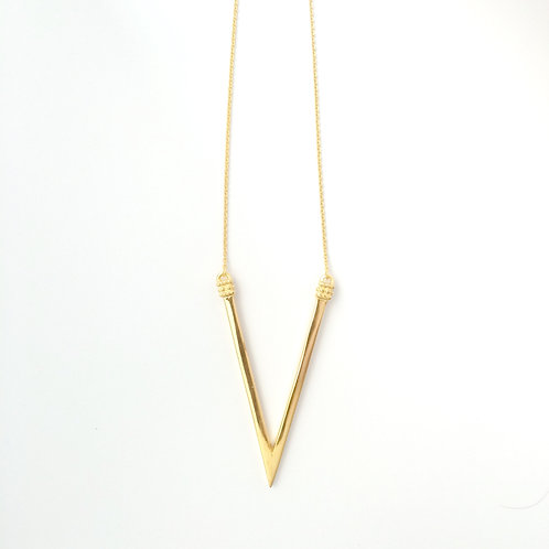 The Adami V Necklace in Gold