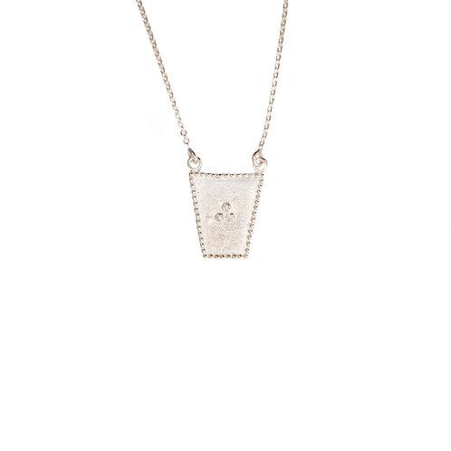 The Sari Shield Necklace in Silver