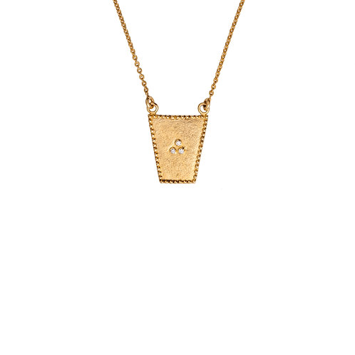The Sari Shield Necklace in Gold