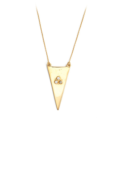 The Tria Necklace in Gold
