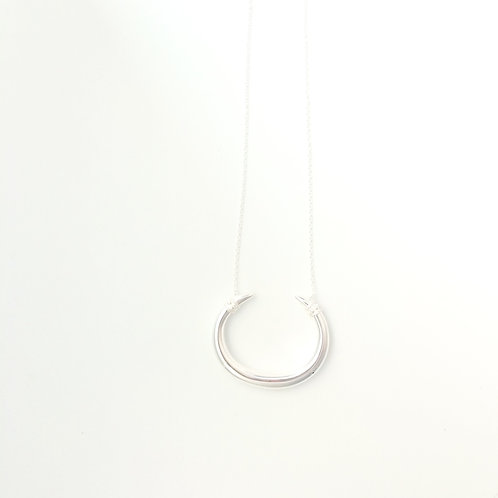 The Large Cora Necklace in Silver