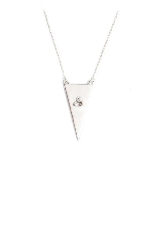 The Tria Necklace in Silver