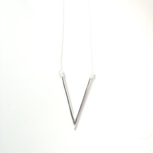 The Adami V Necklace in Silver