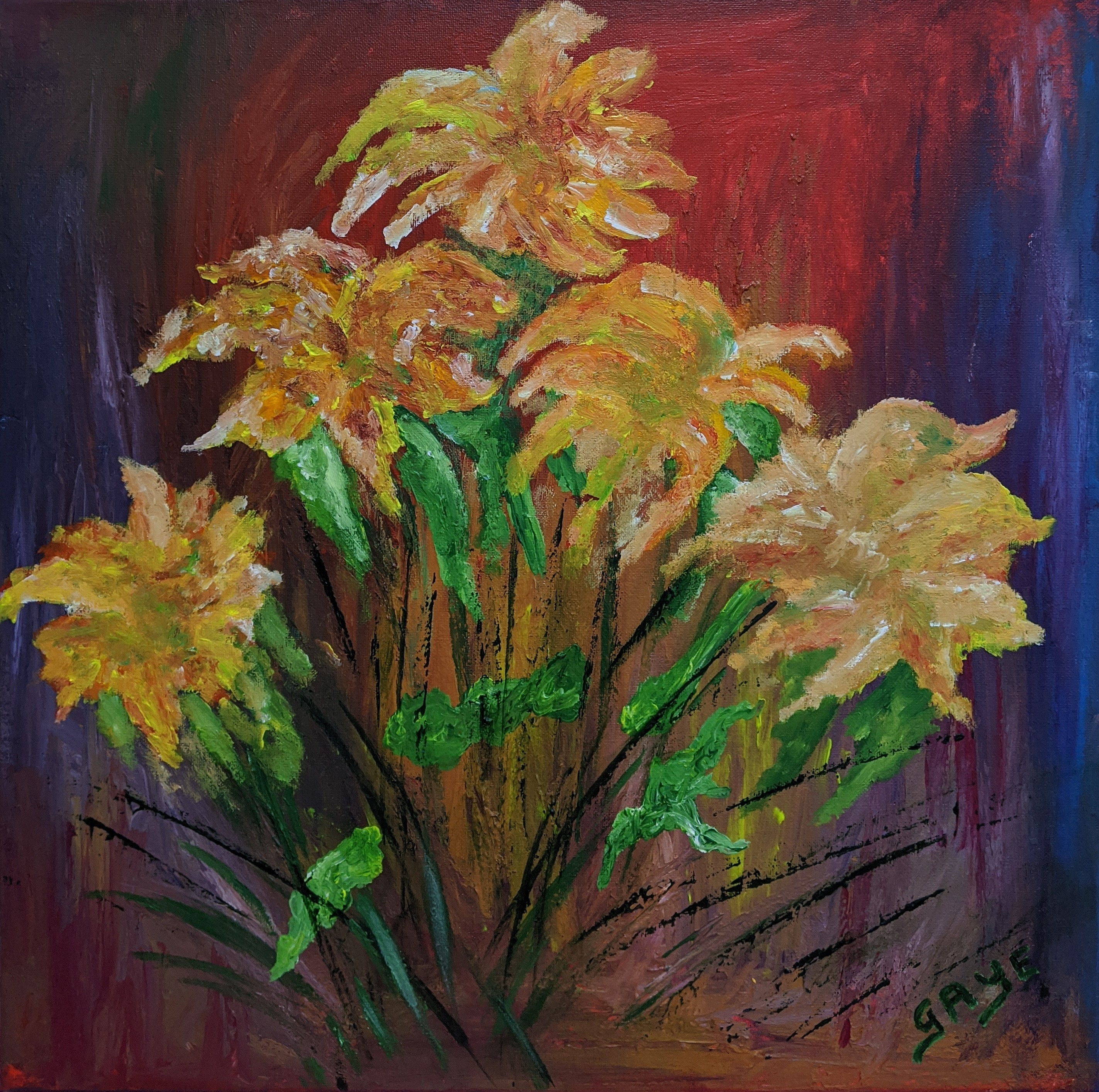 Yellow and Green Flowers