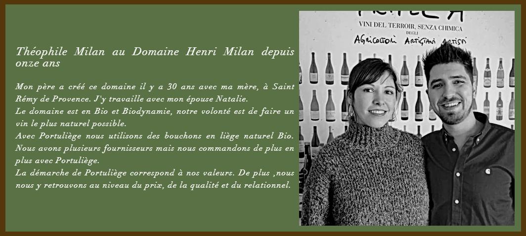 Natalie et Théophile Milan Domaine Henri Milan