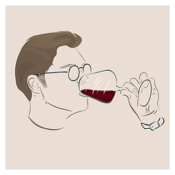 Frenchie winelover Logo - Version CARRE BORD BLANC.png