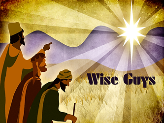 Wise Men Pointing to Star