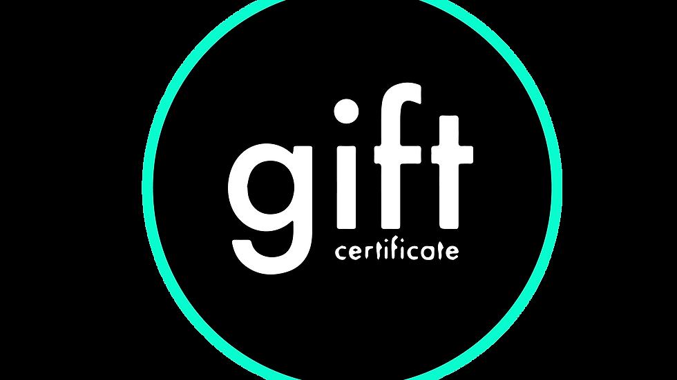 Neon gift certificate
