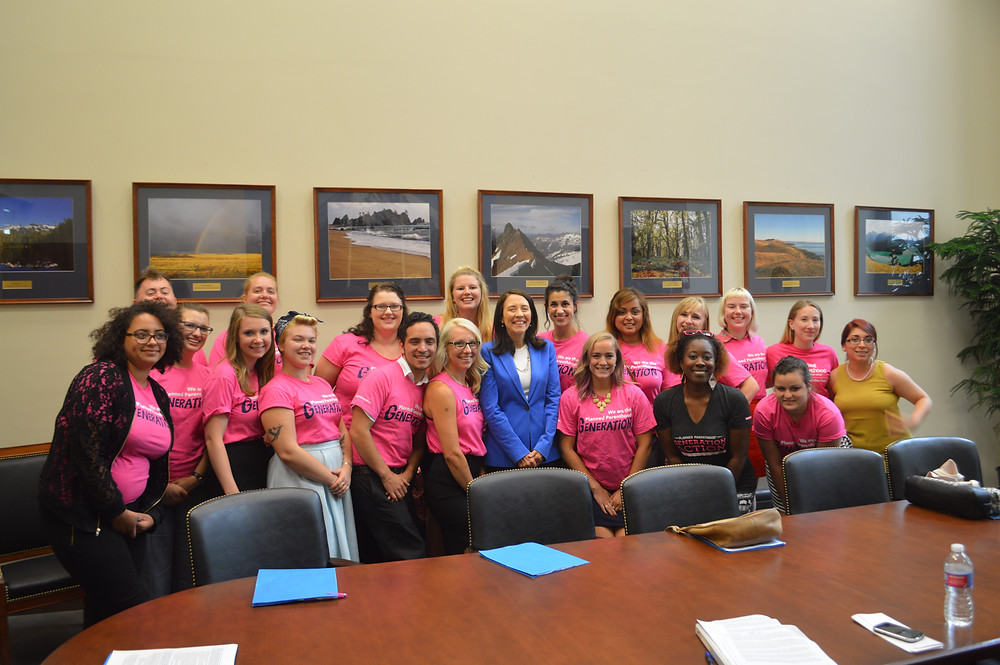 PPGA members meeting with Maria Cantwell in Washington D.C