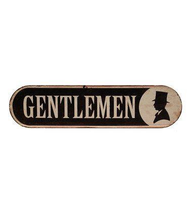 Gentleman Bathroom Sign