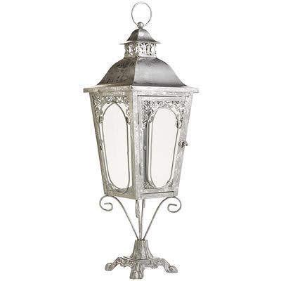 Silver Pedestal Lantern