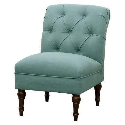 Seafoam Tufted Chair