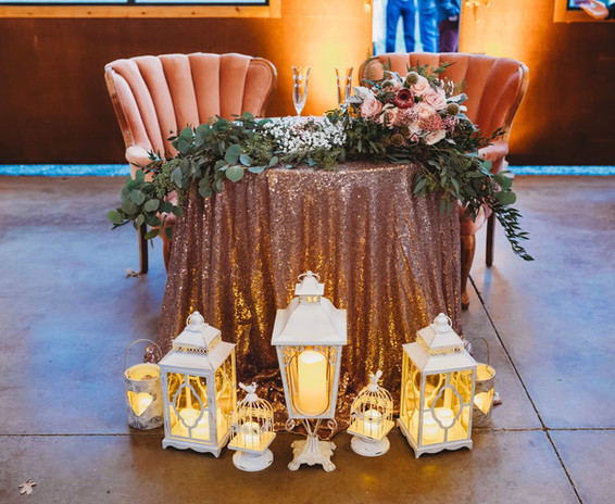 Rose Sequin Round Tablecloth
