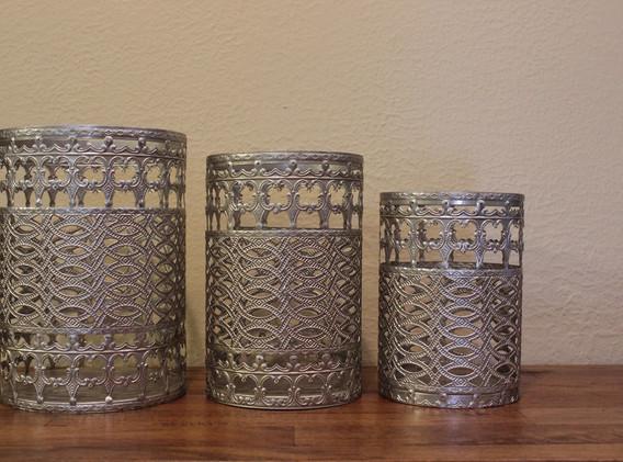 Metal Decorative Jars - assorted sizes
