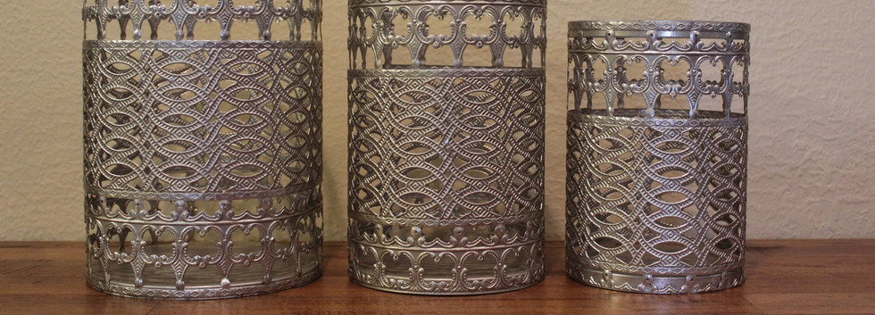 Metal Decorative Jars - assorted sizes