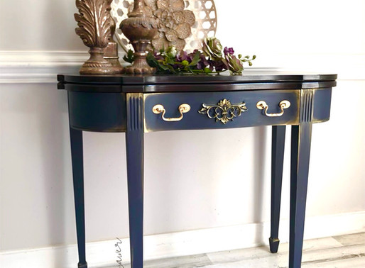 How To Paint A Card Table - A DIY Makeover Featuring Dixie Belle Paint