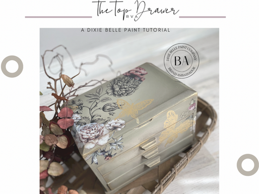 Upcycle A Jewelry Box With Paint!