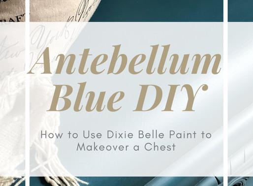 Antebellum Blue Makeover on a Waterfall Cedar Chest