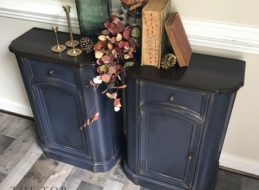 In The Navy ~ Cabinet Upcycle with Dixie Belle Products