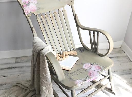 Let's Paint A Rocking Chair - Hokus Pokus US Transfer & Dixie Belle Paint Makeover!